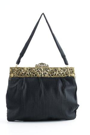 Handtasche schwarz-goldfarben Vintage-Artikel