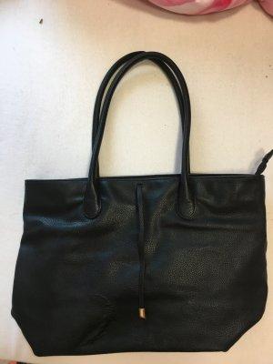 Handtasche schwarz Kunstleder