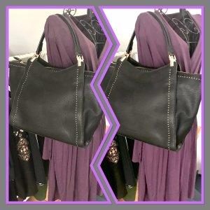 Handtasche schwarz mit goldenen Details