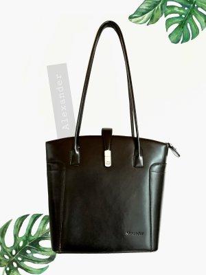 Handtasche schwarze Tasche fest Alexander Henkel magnetverschluss | onesize | unisex