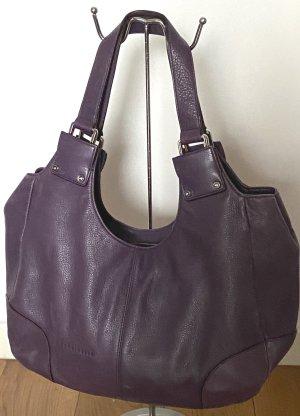 Handtasche -Shopper lila genarbtes Leder Coccinelle