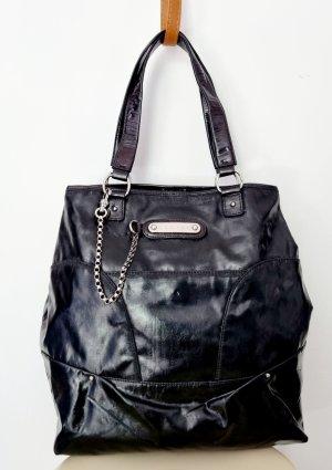 Celine Shopper noir-argenté nylon