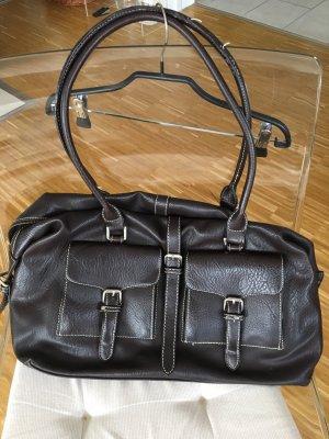 Handtasche, Shopper von Hallhuber, dunkelbraun