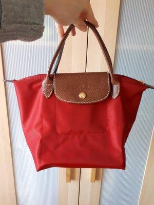Longchamp Sac à main brun-rouge