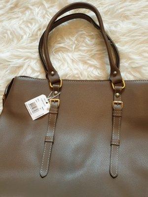 Handtasche Tasche Henkeltasche NEU mit Etikett  !! Braun grau