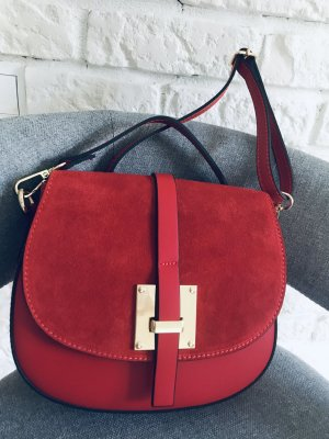 Börse in Pelle Crossbody bag bright red leather