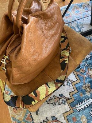 Borse in Pelle Italy Crossbody bag cognac-coloured