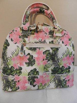 Handtasche, Tragtasche, Umhängetasche – Sommertasche – bunt – White Floral