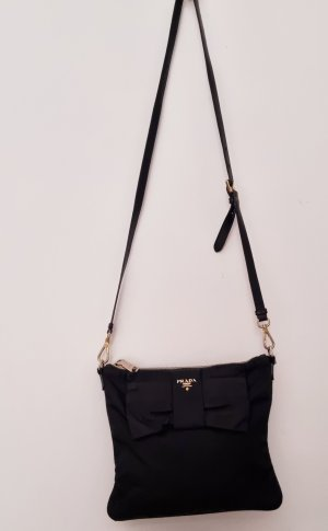 Prada Gekruiste tas zwart-goud Nylon