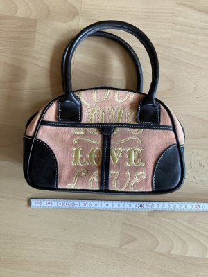 Handtasche Victoria's Secret, Made with love, schwarzbraun, braun, apricot