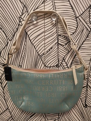 cerruti 1881 Shoulder Bag light blue-cream leather