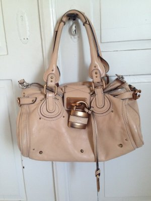 Chloé Shoulder Bag oatmeal-beige leather
