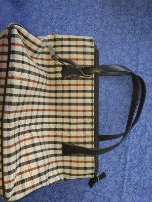 Handtasche von Daks in Canvas, Karomuster, wenig getragen