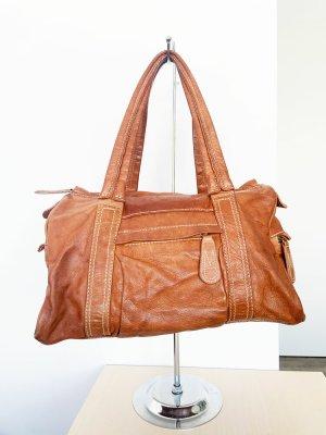 Handtasche von H&M 100 % Echt Leder Cognac