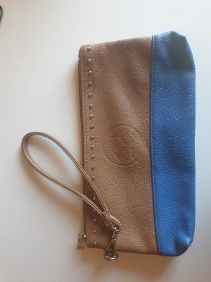 Pippa & Jean Clutch bruin-korenblauw