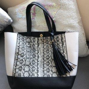 Handtasche von Victoria Secret schwarz/ weiß
