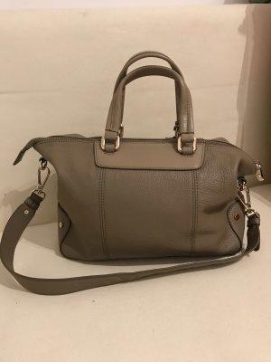 Handtasche von Wittchen Leder beige-braun