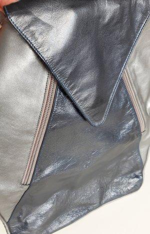 Handtasche * weiches Leder * Metallic Look