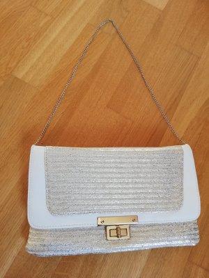 Handtasche weiß - gold von NEW LOOK