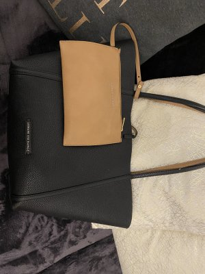 Armani Exchange Borsa con manico nero-marrone