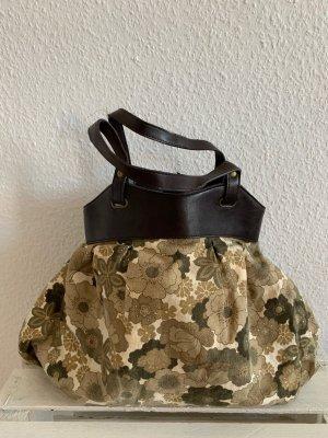 Handtasche Zara oliv/khaki mit Blumenprint