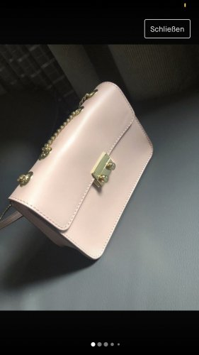 Handtasche zartrosa mit echtem Leder