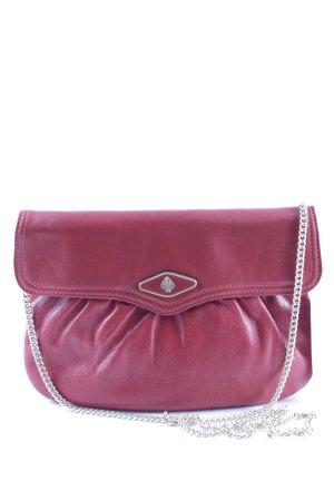 Handtasche ziegelrot klassischer Stil