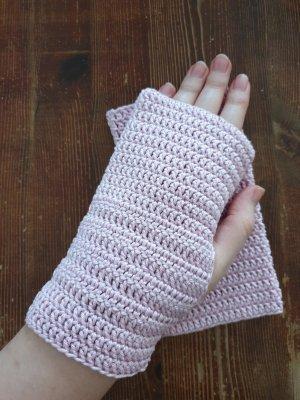 Handarbeit Guantes sin dedos rosa empolvado-rosa