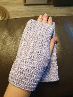 By you Handmade Fingerless Gloves mauve-purple