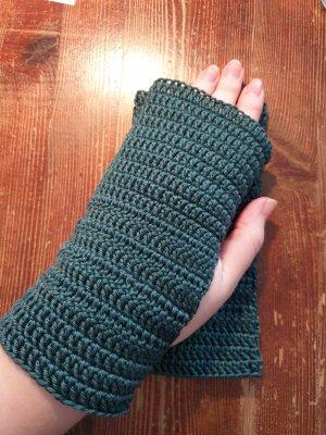 Handarbeit Rękawice bez palców leśna zieleń