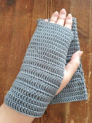 By you Handmade Fingerless Gloves slate-gray