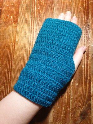 Handarbeit Fingerless Gloves petrol-cadet blue