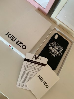 Kenzo Abanico blanco-negro