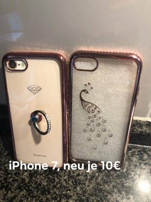 Handy Kappe / Silikon / Strass / Gold iPhone 7,je 10€