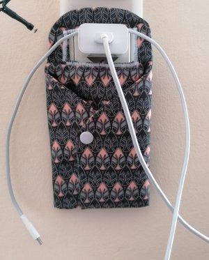 handmade unikat Pokrowiec na telefon komórkowy ciemnoszary