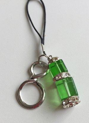 no name Key Chain silver-colored-green glas