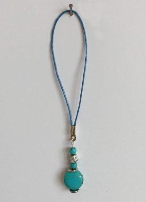 no name Porte-clés turquoise tissu mixte