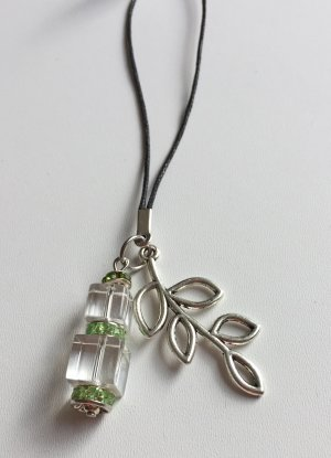 no name Key Chain white-green mixture fibre