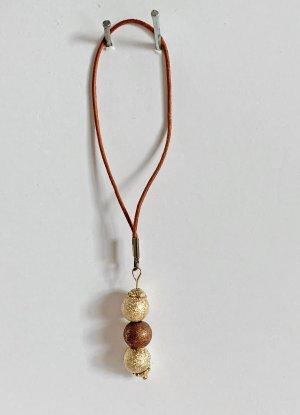 no name Key Chain gold-colored-brown mixture fibre