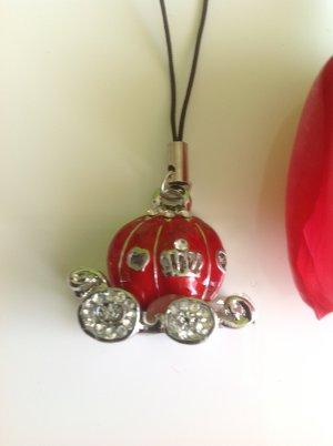 Key Chain light grey-dark red