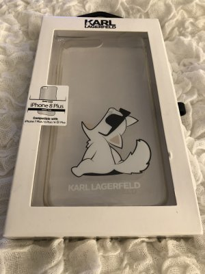 Karl Lagerfeld Hoesje voor mobiele telefoons wit-zwart