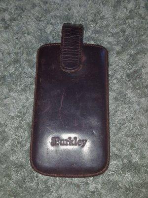 Burkely Étui pour téléphone portable brun foncé-brun noir cuir