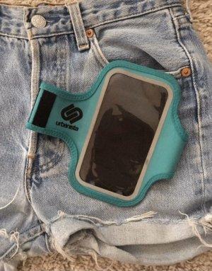 Étui pour téléphone portable bleu pétrole-bleu cadet