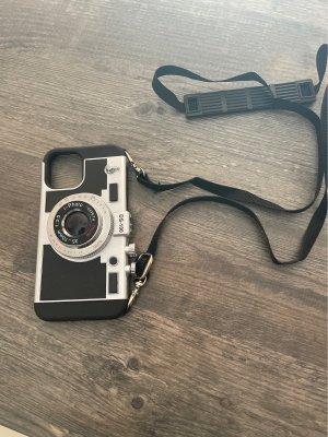 Carcasa para teléfono móvil negro-color plata