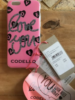 Codello Hoesje voor mobiele telefoons zwart-roze