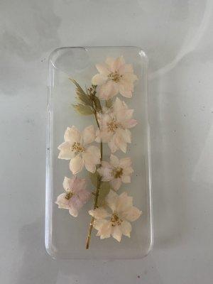 H&M Hoesje voor mobiele telefoons wit-licht beige