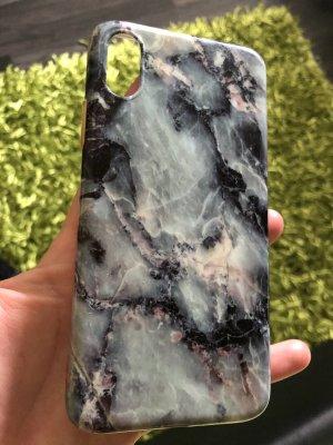 Hoesje voor mobiele telefoons zwart-azuur