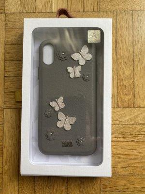 Carcasa para teléfono móvil color plata-gris
