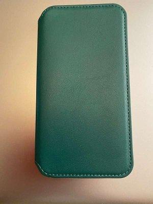 Handyhülle iPhone XR dunkelgrün Leder