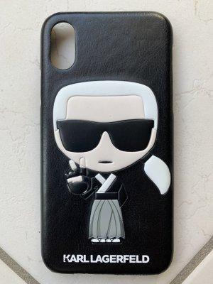 Karl Lagerfeld Custodia per cellulare bianco-nero